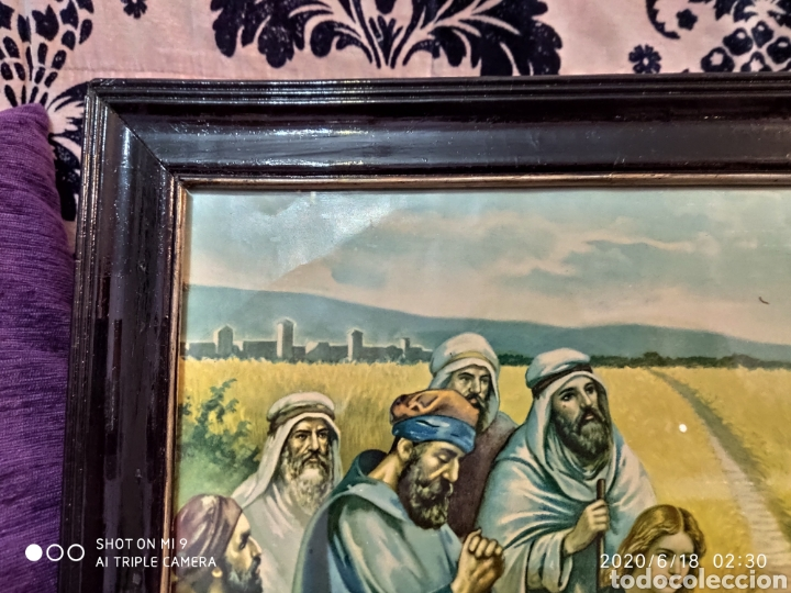 Arte: LAMINA O LITOGRAFÍA ANTIGUA, DE JESÚS CON LOS APÓSTOLES. VER, ÚNICA - Foto 7 - 208648563