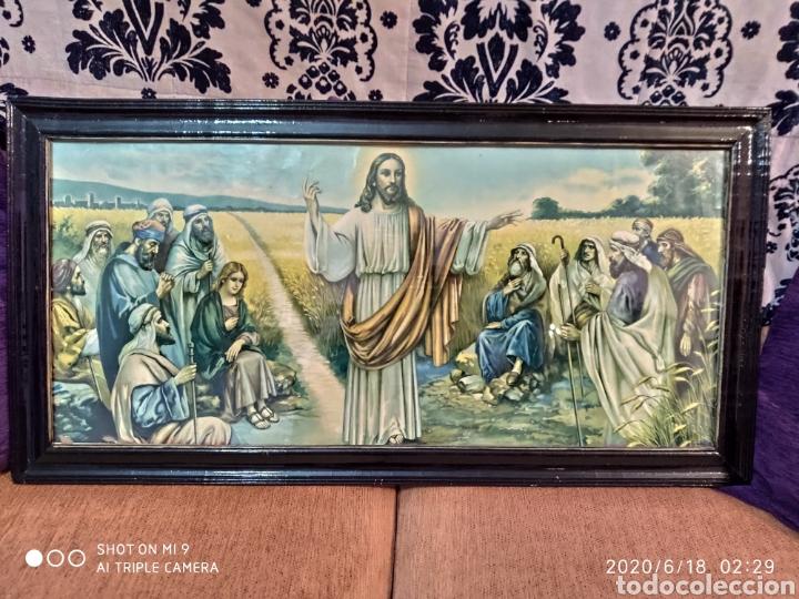 LAMINA O LITOGRAFÍA ANTIGUA, DE JESÚS CON LOS APÓSTOLES. VER, ÚNICA (Arte - Láminas Antiguas)
