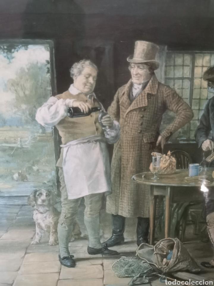 Arte: Precioso cuadro de pescadores ingleses. 1958 - Foto 2 - 209235062