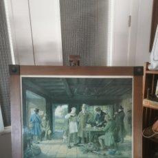 Arte: PRECIOSO CUADRO DE PESCADORES INGLESES. 1958. Lote 209235062