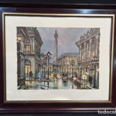 Arte: LAMINA PARIS PLACE VENDÔME. ENMARACADA EN MADERA. REF:PD. Lote 210192178