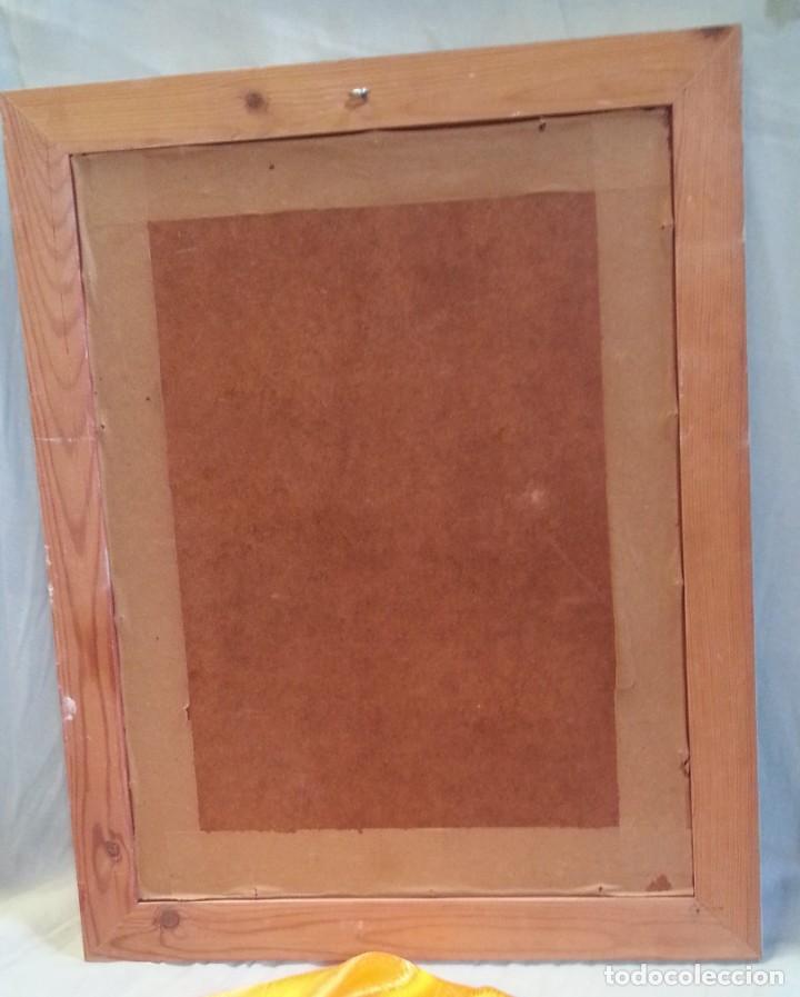 Arte: Lámina barnizada enmarcada. Muy vieja. Años 60. - Foto 6 - 210226403