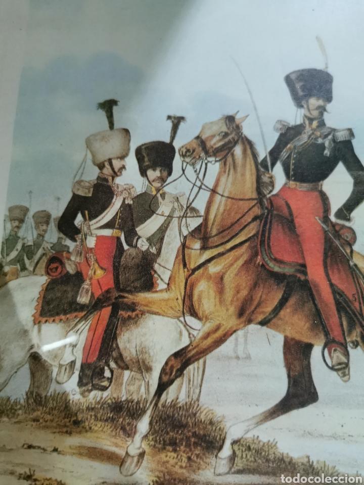 Arte: Lámina enmarcada de caballería militar - Foto 2 - 210226958