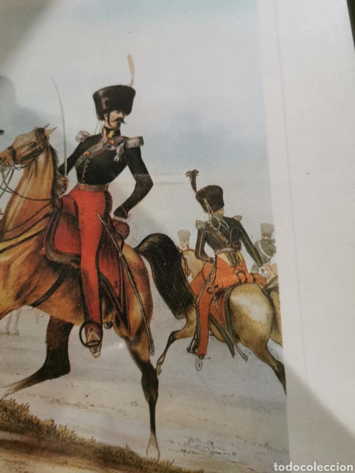 Arte: Lámina enmarcada de caballería militar - Foto 3 - 210226958
