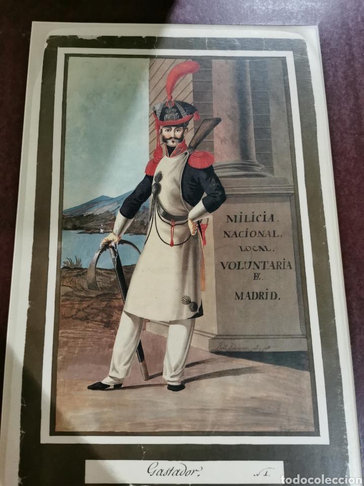 LAMINA MILICIA NACIONAL LOCAL VOLUNTARIA DE MADRID GASTADOR (Arte - Láminas Antiguas)
