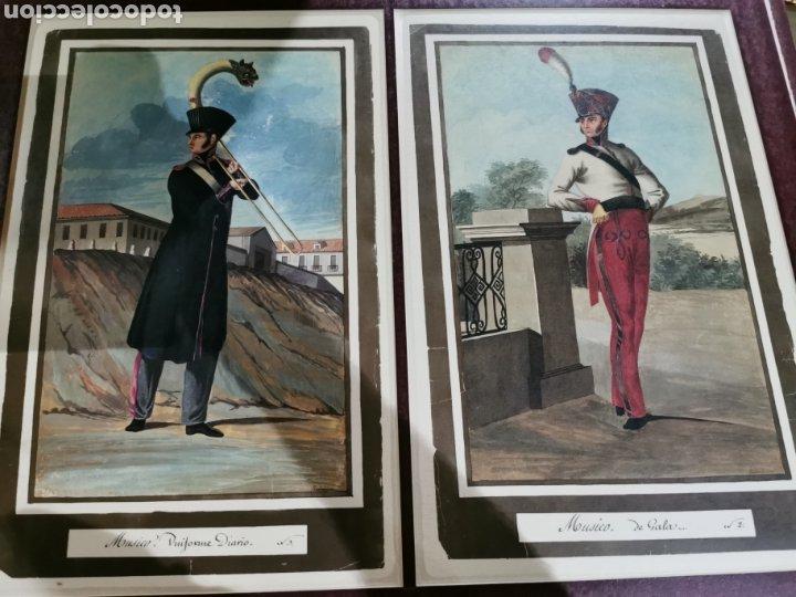 LÁMINAS DE MÚSICOS CON UNIFORME DE DIARIO Y DE GALA (Arte - Láminas Antiguas)