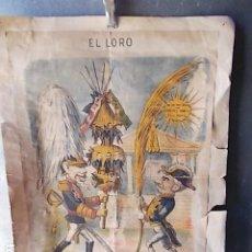 Arte: ANTIGUA LAMINA SATÍRICA EL LORO. Lote 210706927