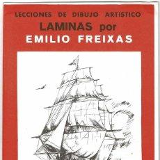 Arte: LECCIONES DE DIBUJO ARTÍSTICO. LÁMINAS POR EMILIO FREIXAS SERIE 25. Lote 211810875