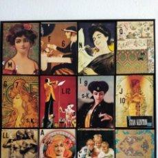 Arte: BONITO CUADRO REALIZADO CON CAJAS DE DVDS Y LÁMINAS ANTIGUAS ESTILO VINTAGE. MEDIDAS 59X55.ENMARCADO. Lote 212078440