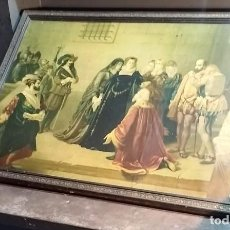 Arte: MARCO DE MADERA CON MAGNÍFICA LÁMINA A TODO COLOR DE ESCENA CORTESANA. Lote 212113437