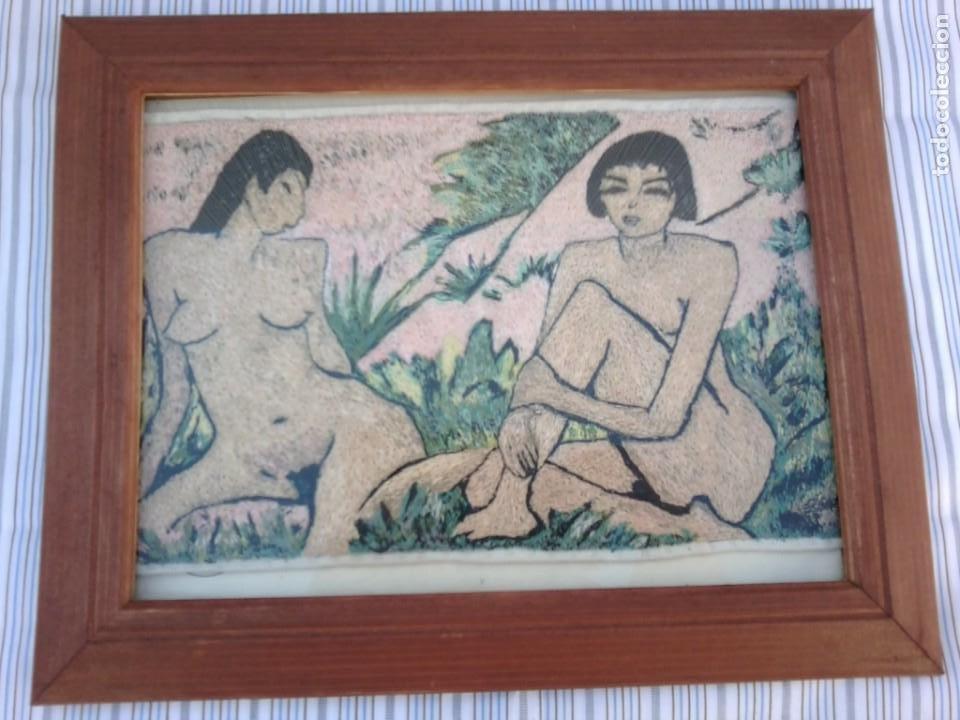 REPLICA PAUL GAUGUIN BORDADO CON HILO SEDA (Arte - Láminas Antiguas)