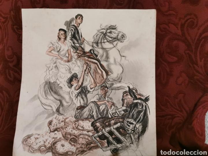 LÁMINA DE CARLOS SÁEZ DE TEJADA JEREZ DE LA FRONTERA (Arte - Láminas Antiguas)