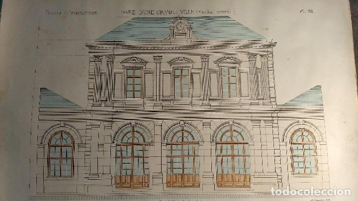 Arte: Dessins Darchitecture. Doce láminas litográficas de diversos tipos de edificios. Monrocq Fr, èdit. - Foto 72 - 213464950