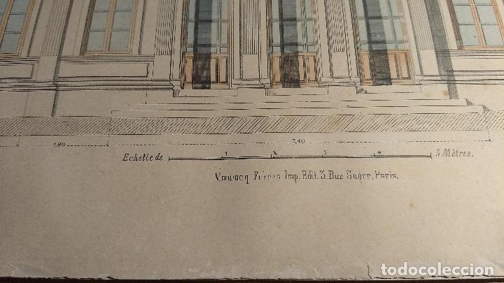 Arte: Dessins Darchitecture. Doce láminas litográficas de diversos tipos de edificios. Monrocq Fr, èdit. - Foto 10 - 213464950