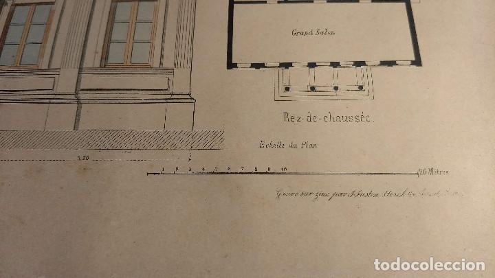 Arte: Dessins Darchitecture. Doce láminas litográficas de diversos tipos de edificios. Monrocq Fr, èdit. - Foto 11 - 213464950