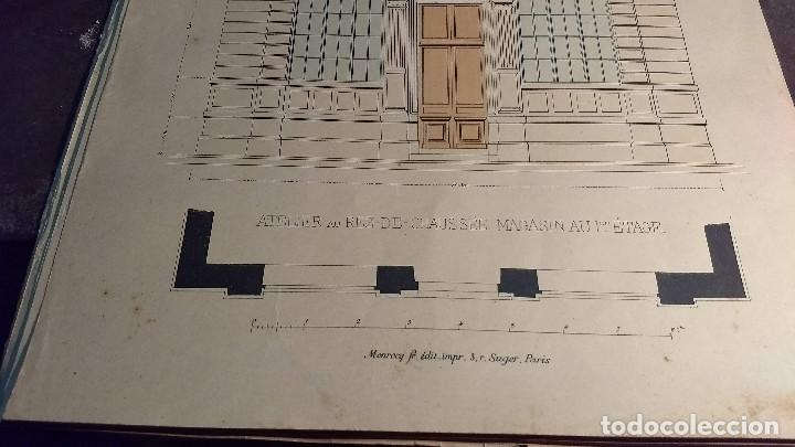 Arte: Dessins Darchitecture. Doce láminas litográficas de diversos tipos de edificios. Monrocq Fr, èdit. - Foto 14 - 213464950