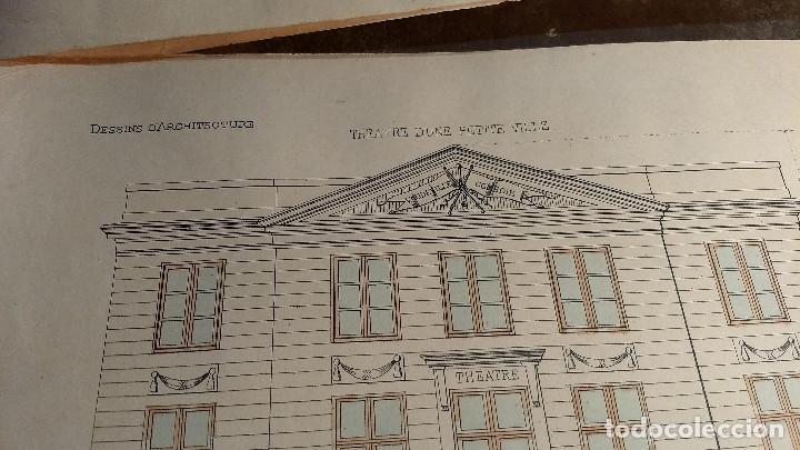 Arte: Dessins Darchitecture. Doce láminas litográficas de diversos tipos de edificios. Monrocq Fr, èdit. - Foto 16 - 213464950