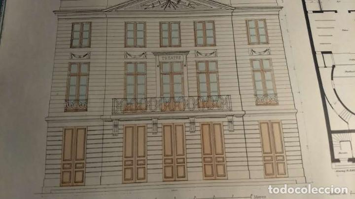 Arte: Dessins Darchitecture. Doce láminas litográficas de diversos tipos de edificios. Monrocq Fr, èdit. - Foto 17 - 213464950