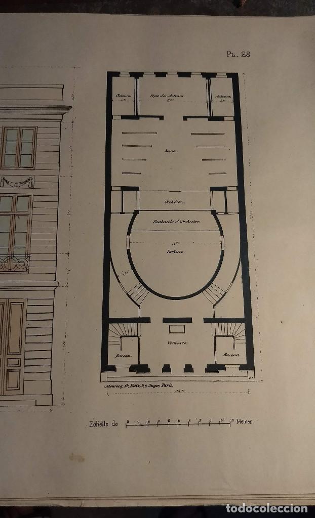 Arte: Dessins Darchitecture. Doce láminas litográficas de diversos tipos de edificios. Monrocq Fr, èdit. - Foto 18 - 213464950