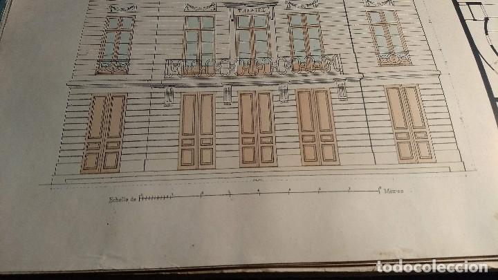 Arte: Dessins Darchitecture. Doce láminas litográficas de diversos tipos de edificios. Monrocq Fr, èdit. - Foto 19 - 213464950