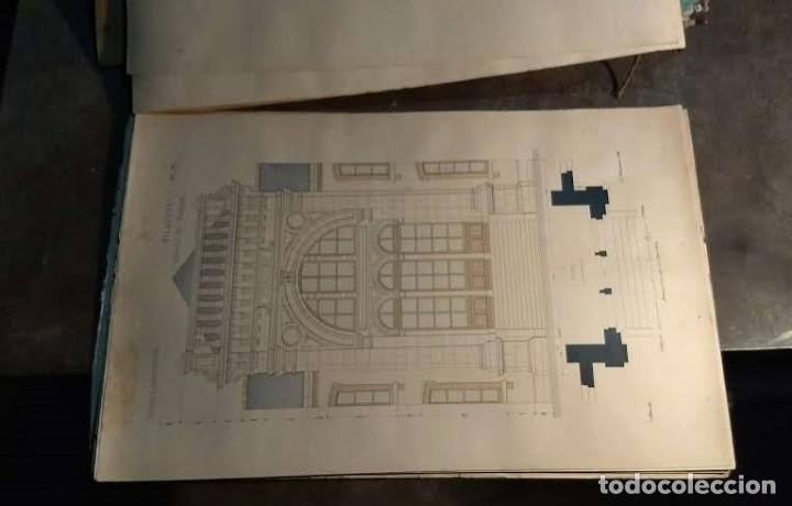 Arte: Dessins Darchitecture. Doce láminas litográficas de diversos tipos de edificios. Monrocq Fr, èdit. - Foto 20 - 213464950