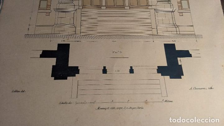 Arte: Dessins Darchitecture. Doce láminas litográficas de diversos tipos de edificios. Monrocq Fr, èdit. - Foto 22 - 213464950