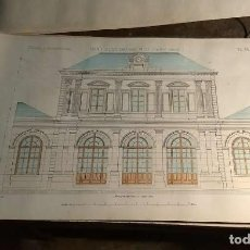 Arte: DESSINS D'ARCHITECTURE. DOCE LÁMINAS LITOGRÁFICAS DE DIVERSOS TIPOS DE EDIFICIOS. MONROCQ FR, ÈDIT.. Lote 213464950
