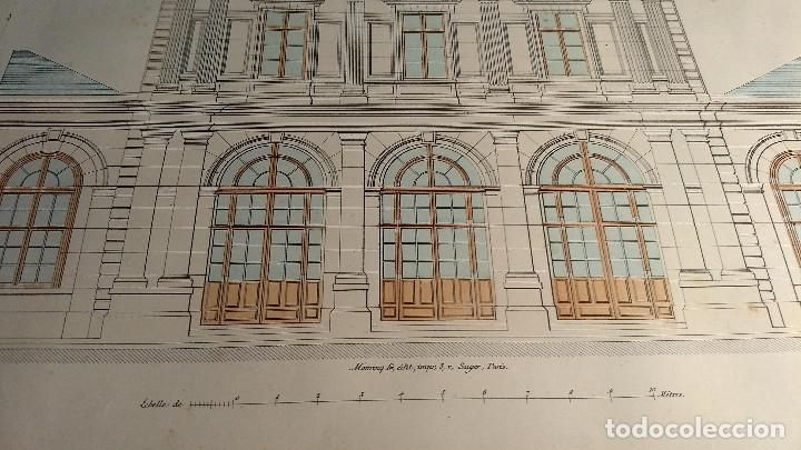 Arte: Dessins Darchitecture. Doce láminas litográficas de diversos tipos de edificios. Monrocq Fr, èdit. - Foto 27 - 213464950