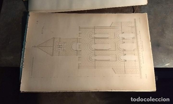 Arte: Dessins Darchitecture. Doce láminas litográficas de diversos tipos de edificios. Monrocq Fr, èdit. - Foto 28 - 213464950