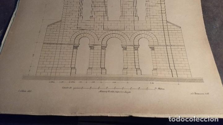 Arte: Dessins Darchitecture. Doce láminas litográficas de diversos tipos de edificios. Monrocq Fr, èdit. - Foto 30 - 213464950