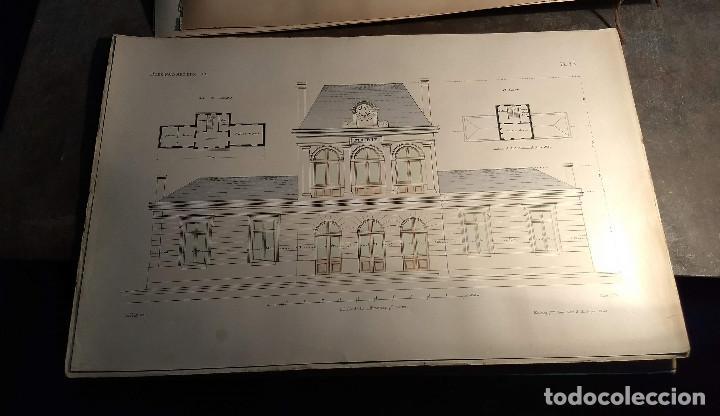 Arte: Dessins Darchitecture. Doce láminas litográficas de diversos tipos de edificios. Monrocq Fr, èdit. - Foto 33 - 213464950