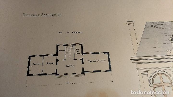 Arte: Dessins Darchitecture. Doce láminas litográficas de diversos tipos de edificios. Monrocq Fr, èdit. - Foto 34 - 213464950