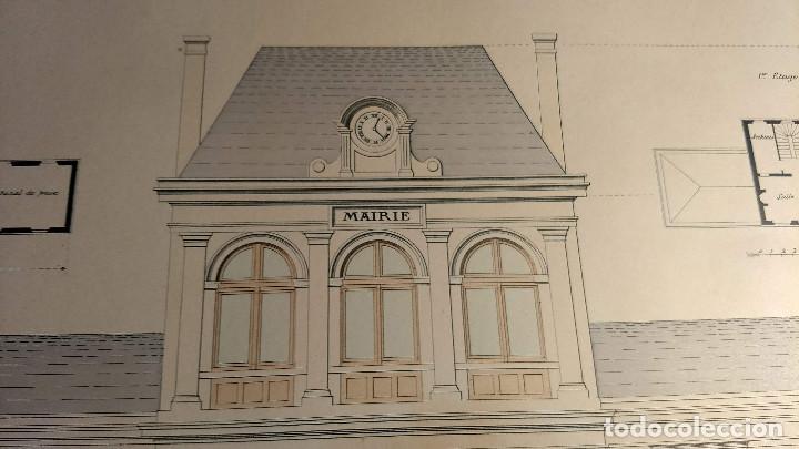Arte: Dessins Darchitecture. Doce láminas litográficas de diversos tipos de edificios. Monrocq Fr, èdit. - Foto 35 - 213464950