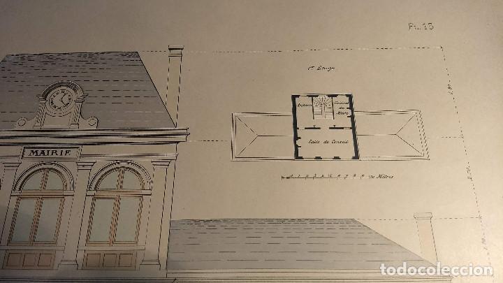 Arte: Dessins Darchitecture. Doce láminas litográficas de diversos tipos de edificios. Monrocq Fr, èdit. - Foto 36 - 213464950