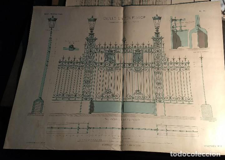 Arte: Dessins Darchitecture. Doce láminas litográficas de diversos tipos de edificios. Monrocq Fr, èdit. - Foto 37 - 213464950