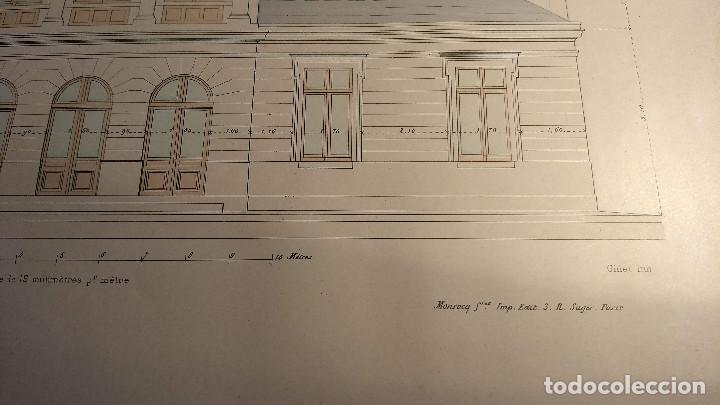 Arte: Dessins Darchitecture. Doce láminas litográficas de diversos tipos de edificios. Monrocq Fr, èdit. - Foto 38 - 213464950