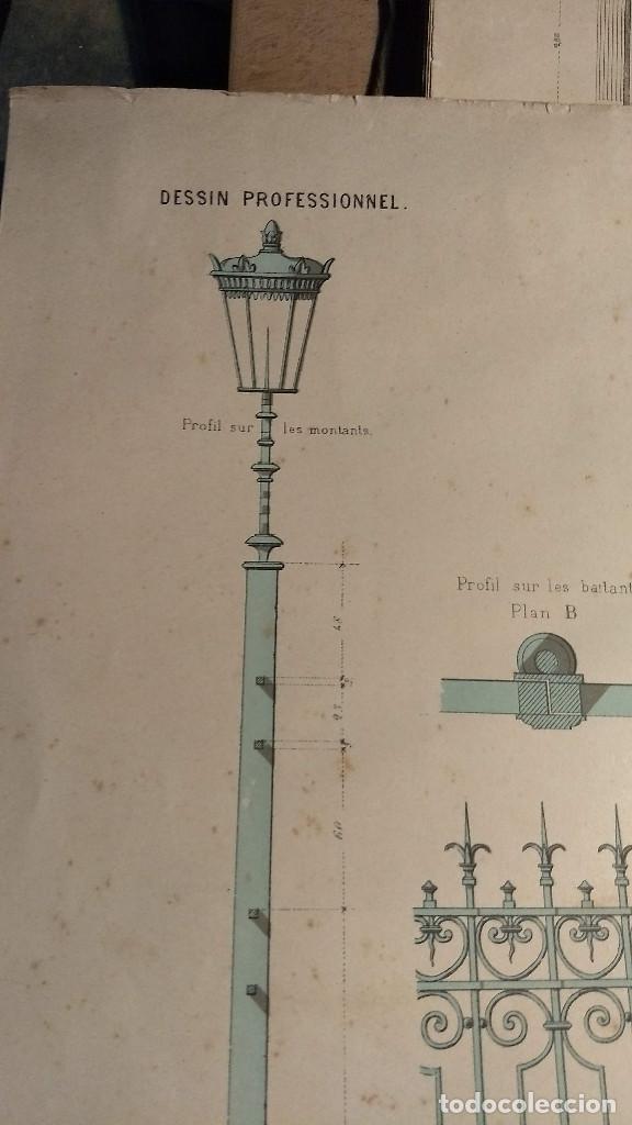 Arte: Dessins Darchitecture. Doce láminas litográficas de diversos tipos de edificios. Monrocq Fr, èdit. - Foto 39 - 213464950