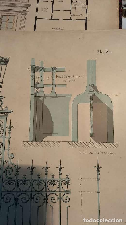 Arte: Dessins Darchitecture. Doce láminas litográficas de diversos tipos de edificios. Monrocq Fr, èdit. - Foto 40 - 213464950