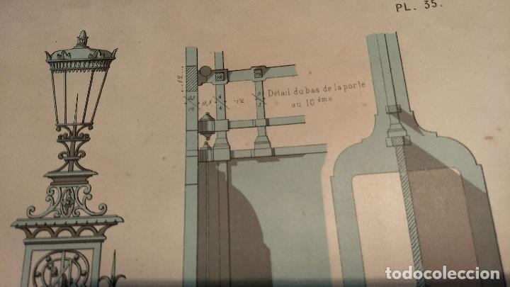 Arte: Dessins Darchitecture. Doce láminas litográficas de diversos tipos de edificios. Monrocq Fr, èdit. - Foto 41 - 213464950