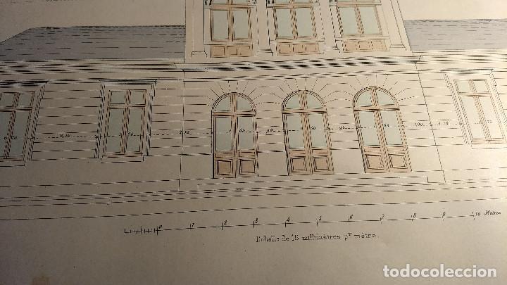 Arte: Dessins Darchitecture. Doce láminas litográficas de diversos tipos de edificios. Monrocq Fr, èdit. - Foto 42 - 213464950