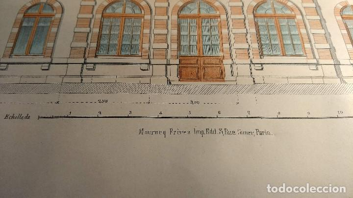 Arte: Dessins Darchitecture. Doce láminas litográficas de diversos tipos de edificios. Monrocq Fr, èdit. - Foto 44 - 213464950