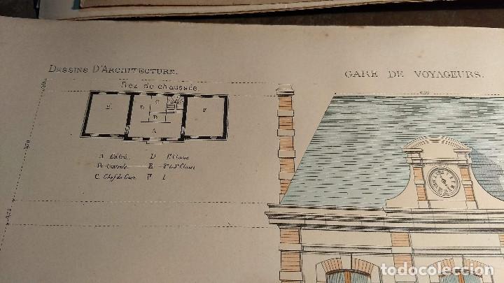 Arte: Dessins Darchitecture. Doce láminas litográficas de diversos tipos de edificios. Monrocq Fr, èdit. - Foto 46 - 213464950