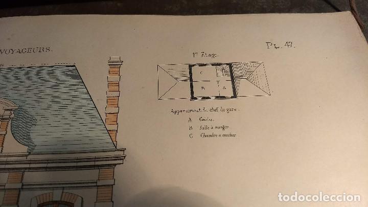 Arte: Dessins Darchitecture. Doce láminas litográficas de diversos tipos de edificios. Monrocq Fr, èdit. - Foto 47 - 213464950