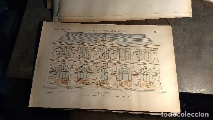 Arte: Dessins Darchitecture. Doce láminas litográficas de diversos tipos de edificios. Monrocq Fr, èdit. - Foto 48 - 213464950