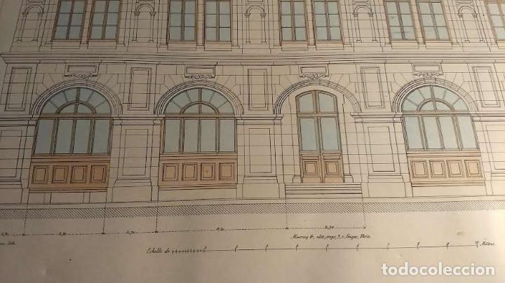 Arte: Dessins Darchitecture. Doce láminas litográficas de diversos tipos de edificios. Monrocq Fr, èdit. - Foto 50 - 213464950
