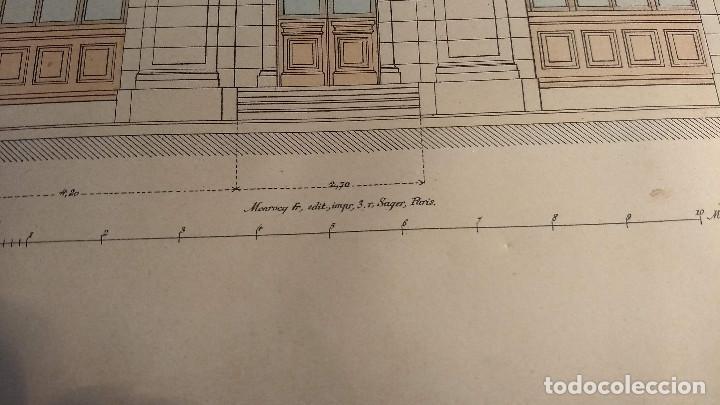 Arte: Dessins Darchitecture. Doce láminas litográficas de diversos tipos de edificios. Monrocq Fr, èdit. - Foto 51 - 213464950