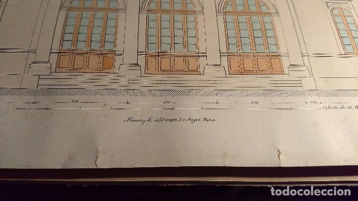 Arte: Dessins Darchitecture. Doce láminas litográficas de diversos tipos de edificios. Monrocq Fr, èdit. - Foto 54 - 213464950