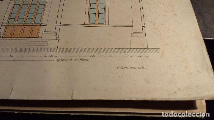 Arte: Dessins Darchitecture. Doce láminas litográficas de diversos tipos de edificios. Monrocq Fr, èdit. - Foto 55 - 213464950