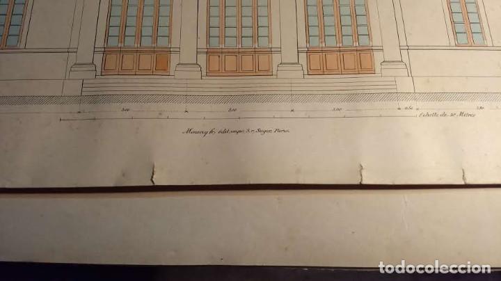 Arte: Dessins Darchitecture. Doce láminas litográficas de diversos tipos de edificios. Monrocq Fr, èdit. - Foto 57 - 213464950