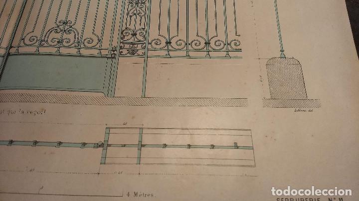 Arte: Dessins Darchitecture. Doce láminas litográficas de diversos tipos de edificios. Monrocq Fr, èdit. - Foto 58 - 213464950